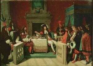 Louis XIV et Molière déjeunant à Versailles - Ingres, 1834