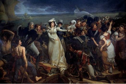 Embarquement  de la duchesse d'Angoulême