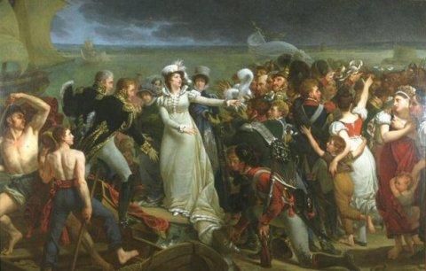 L'embarquement de Madame Royale